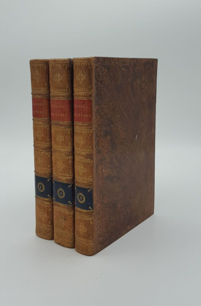 LECTURES ON RHETORIC AND BELLES LETTRES Tenth Edition in Three Volumes. BLAIR Hugh.