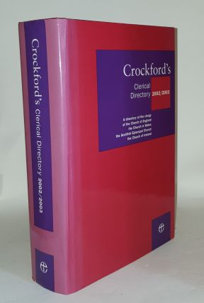 CROCKFORD'S Clerical Directory 2002-2003. Anon