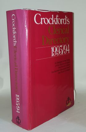 CROCKFORD'S Clerical Directory 1993-94. Anon