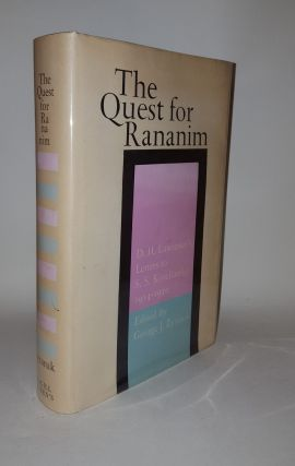 THE QUEST FOR RANANIM Letters to S.S.Koteliansky 1914-30