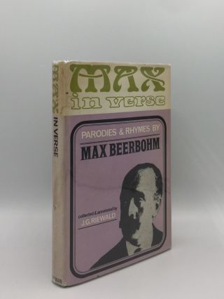 MAX IN VERSE Rhymes and Parodies. RIEWALD J. G. BEERBOHM Max