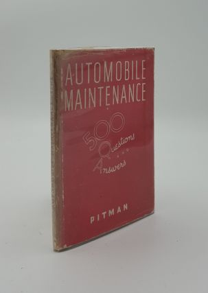 AUTOMOBILE MAINTENANCE 500 Questions and Answers. BENT R. W