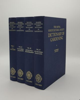 THE ROYAL HORTICULTURAL SOCIETY DICTIONARY OF GARDENING. SYNGE Patrick M. CHITTENDEN Fred J