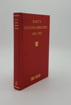 BAILY'S HUNTING DIRECTORY 1992-1993. BAILY'S