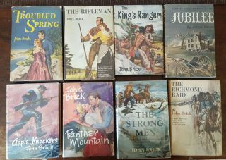 JOHN BRICK NOVELS 8 Volumes Troubled Spring The Rifleman The King's Rangers Jubilee The Apple-Knockers Panther Mountain The Strong Men The Richmond Raid.