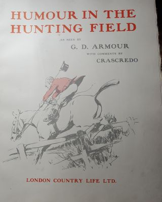HUMOUR IN THE HUNTING FIELD.