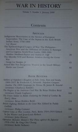 WAR IN HISTORY Volume 7 Number 1 2000. SMALLMAN-RAYNOR Matthew BRYANT G. J