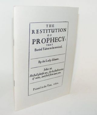 THE RESTITUTION OF PROPHECY. DAVIES Eleanor